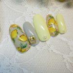 レモンネイルで大人可愛い指先になってみる【ジェルネイルアートの描き方】